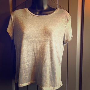Abercrombie and Fitch Sheer Super Soft Gray TShirt